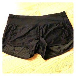 lululemon athletica Shorts - Black mesh speed shorts